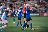 Seattle, WA - Sunday, May 21, 2017: Megan Rapinoe during a regular season National Women's Soccer League (NWSL) match between the Seattle Reign FC and the Orlando Pride at Memorial Stadium.