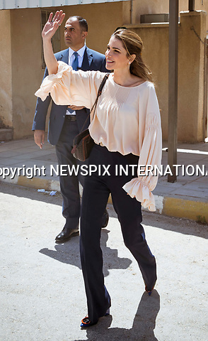 14.05.2017; Amman, Jordan: QUEEN RANIA<br />visits the Ballas Secondary School for Girls in Ajloun Governorate during which she chaired a Royal Health Awareness Society (RHAS)&rsquo;s annual Board of Trustees Meeting.<br />Mandatory Photo Credit: &copy;Royal Hashemite Court/NEWSPIX INTERNATIONAL<br /><br />PHOTO CREDIT MANDATORY!!: NEWSPIX INTERNATIONAL(Failure to credit will incur a surcharge of 100% of reproduction fees)<br /><br />IMMEDIATE CONFIRMATION OF USAGE REQUIRED:<br />Newspix International, 31 Chinnery Hill, Bishop's Stortford, ENGLAND CM23 3PS<br />Tel:+441279 324672  ; Fax: +441279656877<br />Mobile:  0777568 1153<br />e-mail: info@newspixinternational.co.uk<br />&ldquo;All Fees Payable To Newspix International&rdquo;