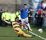 Fraser Aird tackled by Ross McPherson