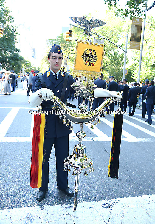 Thomas Fidorra with a Schellembaum attends the 59th German-American Steuben Parade on September 17, 2016 on Fifth Avenue in New York City, New York, USA. <br /> <br /> photo by Robin Platzer/Twin Images<br />  <br /> phone number 212-935-0770