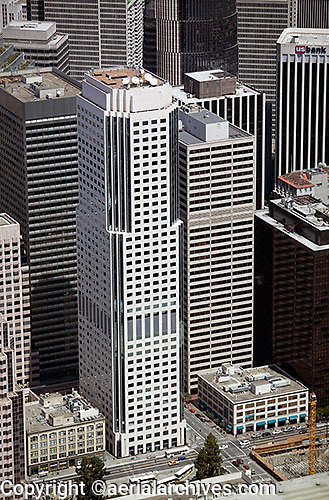 aerial photograph 50 Fremont Center office skyscraper San Francisco