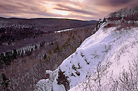 The view from atop the cliffs of Brockway Mountain near Copper Harbor Michigan.