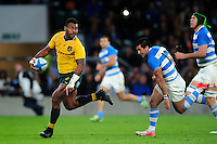 Samu Kerevi of Australia gets past the Argentina defence. The Rugby Championship match between Argentina and Australia on October 8, 2016 at Twickenham Stadium in London, England. Photo by: Patrick Khachfe / Onside Images