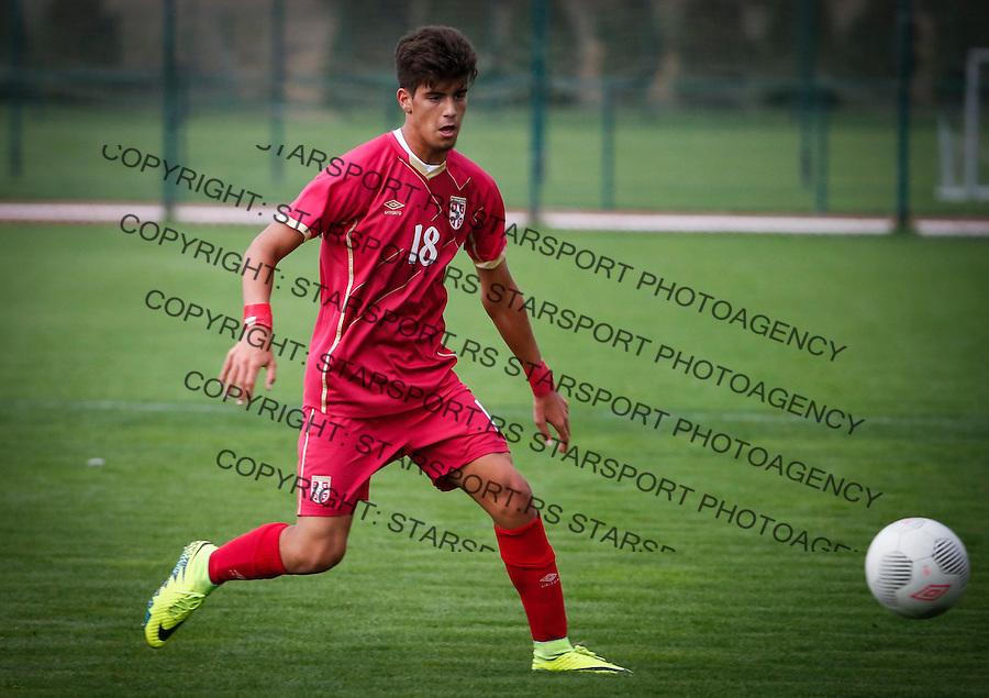 Fudbal Soccer<br /> International Friendly-Prijateljski mec<br /> Srbija U17 v Belorusiaj U17<br /> Stefan Stankovic <br /> Stara Pazova, 20.09.2016<br /> foto: Srdjan Stevanovic/Starsportphoto &copy;