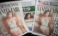 The front pages of the New York Daily News , Metro and NY Post on Tuesday, June 2, 2015 feature the cover of Vanity Fair which itself features former male Bruce Jenner's transgender change into Caitlyn Jenner. (© Richard B. Levine)