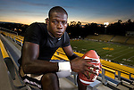 Valdosta State University Blazer running back Ronnye Nelson September 25, 2009 in Valdosta, Georgia.   (Photo by MarkWallheiser.com)