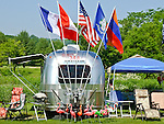 An Airstream RV at the Quechee  Balloon Festival in Quechee, VT, USA