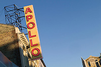 16 December 2005 - New York City, NY - View of the renovated Apollo theater sign on the faade of the building on 125th street in Harlem, New York City, USA, 16 December 2005. The famous theater, home of the Amateur Nights at The Apollo, reopens in February with a renovated facade and new seats.