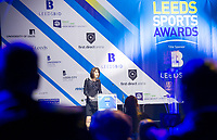 Picture by Allan McKenzie/SWpix.com - 07/03/2017 - Commercial - Leeds Sports Awards 2017 - First Direct Arena, Leeds, England - Leeds Sports Awards, The Brief, Tanya Arnold comperes for the evening.