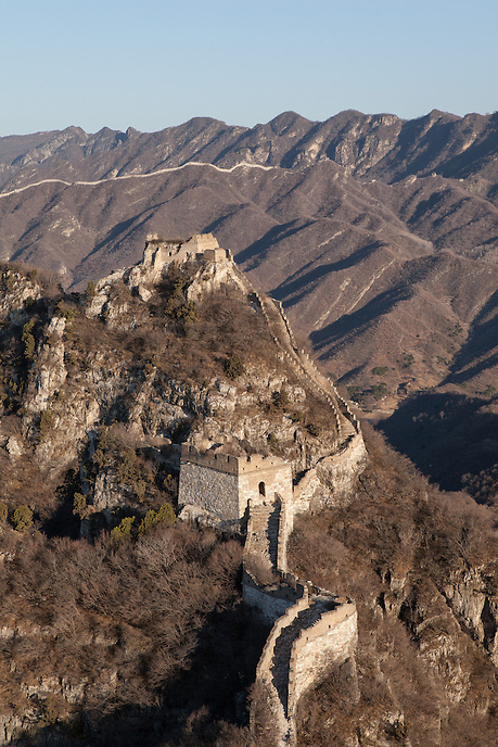 The view toward the most difficult part of Jiankou Great Wall taken near Zheng Bei Lou tower.