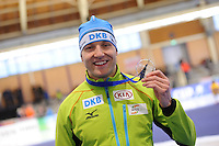 SPEEDSKATING: BERLIN: Sportforum Berlin, 27-01-2017, ISU World Cup, 500m Men A Division, winner Nico Ihle (GER), ©photo Martin de Jong