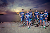 Antoine Demoiti&eacute; (BEL/Wanty-Groupe Gobert) far left on an official Team Photo of the Walonian riders/friends in the team<br /> <br /> Pro Cycling Team Wanty-Groupe Gobert<br /> 2016 pre-season training camp in Alicante, Spain