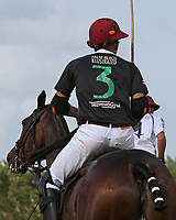 WELLINGTON, FL - APRIL 15:  Agustin Obregon. Scenes from the $100,000 World Cup Final, at the Grand Champions Polo Club, on April 15, 2017 in Wellington, Florida. (Photo by Liz Lamont/Eclipse Sportswire/Getty Images)