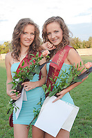 Andrea and Krisztina Marics placed second during the Queens of Twins beauty contest organized as part of the 12th Twin Festival held 7th time in Szigehalom (about 15 km from Budapest), Hungary on July 23, 2011. ATTILA VOLGYI