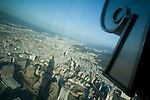 View from the observation deck on the 88th floor of Taipei 101, Taipei, Taiwan, ROC