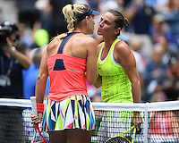 FLUSHING NY- SEPTEMBER 06: Angelique Kerber Vs Roberta Vinci on Arthur Ashe Stadium at the USTA Billie Jean King National Tennis Center on September 6, 2016 in Flushing Queens. Credit: mpi04/MediaPunch