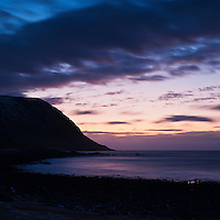 Evening light and coastal silhouette, Eggum, Lofoten Islands, Norway