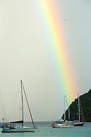 Maho Bay Rainbow<br /> Virgin Islands National Park<br /> St. John, US Virgin Islands