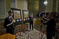 Roma 2 Aprile 2014<br />  I carabinieri del Comando tutela patrimonio culturale hanno recuperato due capolavori dell'Impressionismo francese rubati a Londra nel 1970. Si tratta di un'opera di Gauguin intitolata 'Fruits sur une table ou nature morte au petit chien' ('Frutti su una tavola o natura morte con cagnolino') e del dipinto di Bonnard 'La femme aux deux fauteuils', ossia 'Donna con due poltrone'. L'opera di Gauguin, stando alle quotazioni attuali, sottolineano dal Comando carabinieri Tpc, ha un valore compreso tra i 15 ed i 35 milioni di euro, mentre quella di Bonnard si aggira intorno ai 600 mila euro.<br /> Rome 2 April 2014<br /> The Carabinieri of the Command it protects cultural patrimony , have recovered two masterpieces of the French impressionism stolen in London in 1970. It is a work of Gauguin titled 'Fruits sur une table ou nature morte au petit chien' ('Fruit on a table or death nature with little dog') and Bonnard's painting 'La femme aux deux fauteuils', i( Woman with two armchairs). The work of Gauguin, according to current prices emphasize the Carabinieri TPC Command, has a value between 15 and 35 million Euros, while that of Bonnard is around 600 thousand euro.