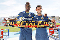Getafe's new players Bernard Mensah and Vi