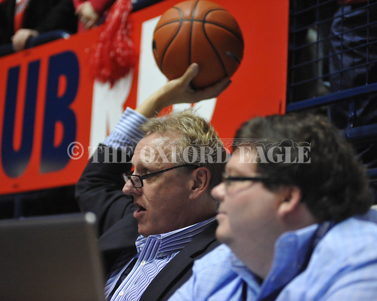 "Ron Higgins at Ole Miss vs. Missouri at the C.M. ""Tad"" Smith Coliseum on Saturday, January 12, 2013. Ole Miss defeated #10 ranked Missouri 64-49."