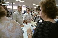 Detroit, Michigan, U.S.A, September, 1980. Unemployment office near Detroit.