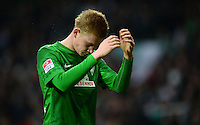 FUSSBALL   1. BUNDESLIGA   SAISON 2012/2013    24. SPIELTAG SV Werder Bremen - FC Augsburg                           02.03.2013 Kevin De Bruyne (SV Werder Bremen) ist enttaeuscht