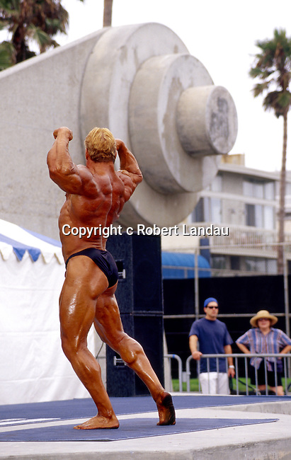Body building competition at Muscle Beach in Vencie, CA