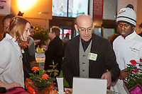 FoodShare's Chef Alvin Rebick and apprentices at FoodShare Toronto's Recipe for Change, February 28,  2013