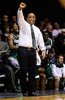 INDIANAPOLIS, IN - FEBRUARY 13: Head coach Alan Major of the Charlotte 49ers seen on the sidelines during the game against the Butler Bulldogs at Hinkle Fieldhouse on February 13, 2013 in Indianapolis, Indiana. Charlotte defeated Butler 71-67. (Photo by Michael Hickey/Getty Images) *** Local Caption *** Alan Major