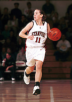 Jamie Carey during the 1999-2000 women's basketball season at Maples Pavilion in Stanford, CA.
