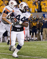 October 23, 2008: Auburn running back Ben Tate. The West Virginia Mountaineers defeated the Auburn Tigers 34-17 on October 23, 2008 at Mountaineer Field, Morgantown, West Virginia.