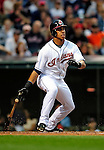 4 September 2009: Cleveland Indians' outfielder Michael Brantley in action against the Minnesota Twins at Progressive Field in Cleveland, Ohio. The Indians defeated the Twins 5-2 to take the first game of their three-game weekend series. Mandatory Credit: Ed Wolfstein Photo