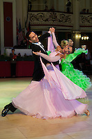 Stanislav Sochor and Irena Sochorova of Czech Republic perform their dance during the Senior Ballroom competition of the Blackpool Dance Festival that is one of the most famous events among dance competitions held in Empress Ballroom Wintergardens, Blackpool, United Kingdom. Friday, 22. May 2009. ATTILA VOLGYI