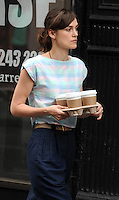 Keira Knightley carries some coffee - New York