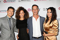LOS ANGELES, CA - OCTOBER 23: Harry Shum Jr, Sherri Saum, Tom Ascheim, Shay Mitchell at the 2016 Outfest Legacy Awards at Vibiana in Los Angeles, California on October 23, 2016. Credit: David Edwards/MediaPunch