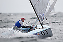 Ed Wright in action during day 5 of racing. The JP Morgan Asset Management Finn Gold Cup 2012. Falmouth.Credit: Lloyd Images