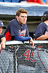 6 March 2011: Atlanta Braves' infielder Freddie Freeman watches play from the dugout during a game against the Washington Nationals at Space Coast Stadium in Viera, Florida. The Braves shut out the Nationals 5-0 in Grapefruit League action. Mandatory Credit: Ed Wolfstein Photo