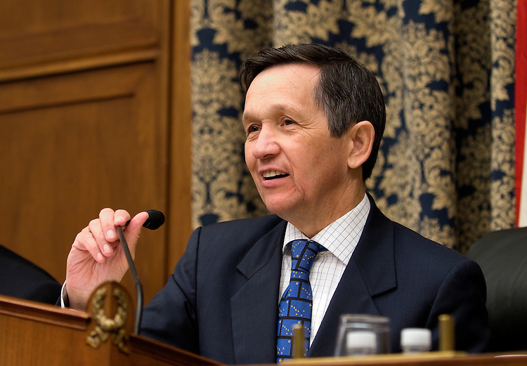 """Chairman Dennis Kucinich, D-OH. during the House Oversight and Government Reform Committee and Domestic Policy Subcommittee hearing on """"ExxonMobil and Shell Answer Questions about Hot Fuels Double Standards."""".Witnesses: Ben Soraci, U.S. retail sales director for the ExxonMobil Fuels Marketing Company; and Hugh Cooley, vice president and general manager of national wholesale and joint ventures a the Shell Oil Company"""