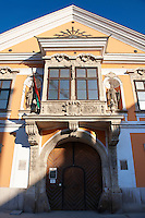 Jånos Xantus Museum - The Abbott's House - 5 Szechenyi Square - Baroque with Rocco Style protruding Balcony - ( Gy?r )  Gyor Hungary