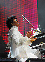 Legendary musician Little Richard preforms in New Orleans Saturday May 30,2009 as part of the Domino Effect Benefit concert which also featured B.B. King and Chuck Berry. Domino Effect Benefit Concert legendary performers gather in New Orleans at the Arena to raise funds and awarness for hurricane Katrina rebuilding for Fats Domino the Tipatina Foundation and the Drew Brees' foundation. Photo&copy;Suzi Altman ALL IMAGES &copy;SUZI ALTMAN. IMAGES ARE NOT PUBLIC DOMAIN. CALL OR EMAIL FOR LICENSE, USE, OR TO PURCHASE PRINTS 601-668-9611 OR EMAIL SUZISNAPS@AOL.COMPhoto&copy;Suzi Altman