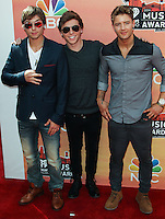 LOS ANGELES, CA, USA - MAY 01: Keaton Stromberg, Wesley Stromberg, Drew Chadwick, Emblem3 at the iHeartRadio Music Awards 2014 held at The Shrine Auditorium on May 1, 2014 in Los Angeles, California, United States. (Photo by Celebrity Monitor)