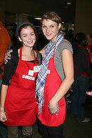 Nora Zehetner & Beau Garrett at the LA Mission Thanksgivng Feeding of the Homeless in    Los Angeles, CA.November 26, 2008.©2008 Kathy Hutchins / Hutchins Photo....