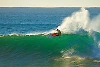 "JEFFREYS BAY, South Africa (Thursday, July 15, 2010) - The Billabong Pro Jeffreys Bay has been called ON this morning with clean four-to-six (2 metre) waves steaming down the point..Event No. 4 of 10 on the 2010 ASP World Tour, the Billabong Pro Jeffreys Bay is looking at an excellent forecast to kick off the waiting period and the world's best surfers will take to the water at 8am this morning for Round 1 of competition..""We've awoken to pristine conditions at Jeffreys this morning with consistent four-to-six foot (2 metre) waves on offer and we'll be commencing competition at 8am,"" Richie Porta, ASP International Head Judge, said. ""We plan on a full day of competition and good luck to all the boys today."".The Billabong Pro Jeffreys Bay is turning into an event of two tales: 1) the red-hot ASP World Title Race with Kelly Slater (USA), 38, campaigning for his 10 ASP World Title, and 2) the cutthroat mid-year field reduction from the ASP Top 45 to 32..With the top seeds gunning for the ASP World Title and the low seeds battling for survival amongst the world's elite, today's picturesque conditions are poised to deliver unprecedented levels of performance and intensity.  Photo: joliphotos.com"