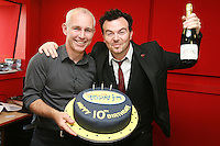 3/9/2010. 10 years of the Ray D'Arcy Show. Jack L is pictured with Ray D'Arcy in the Today FM Studios, live on the Ray D'Arcy Show where the show is celebrating 10 years to the day of broadcasting on Today FM. Picture James Horan/Collins Photos