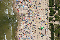 By late morning the beach at Wladyslawowo on the Baltic Sea is starting to get busy.