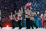 Members of Team Canada walk into BC Place during the opening ceremony of the 2010 Paralympic Games in Vancouver.