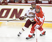 Blake Bolden (BC - 10), Jenn Wakefield (BU - 9) - The visiting Boston University Terriers defeated the Boston College Eagles 1-0 on Sunday, November 21, 2010, at Conte Forum in Chestnut Hill, Massachusetts.