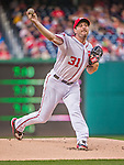 22 May 2015: Washington Nationals starting pitcher Max Scherzer on the mound against the Philadelphia Phillies at Nationals Park in Washington, DC. The Nationals defeated the Phillies 2-1 in the first game of their 3-game weekend series. Mandatory Credit: Ed Wolfstein Photo *** RAW (NEF) Image File Available ***