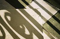 Photo of shadow from ironwork- Charleston, SC